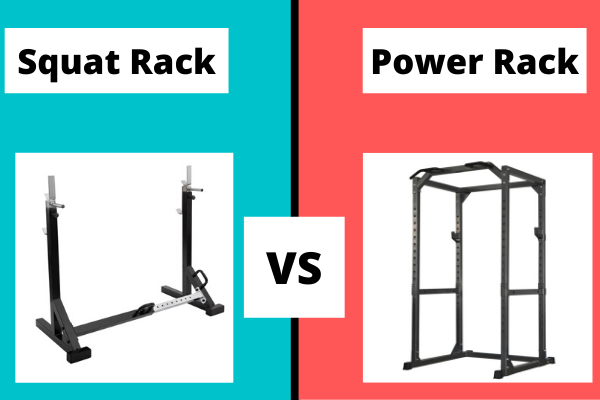 squat rack vs power rack graphic
