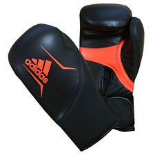 adidas boxing gloves in a reddish pink