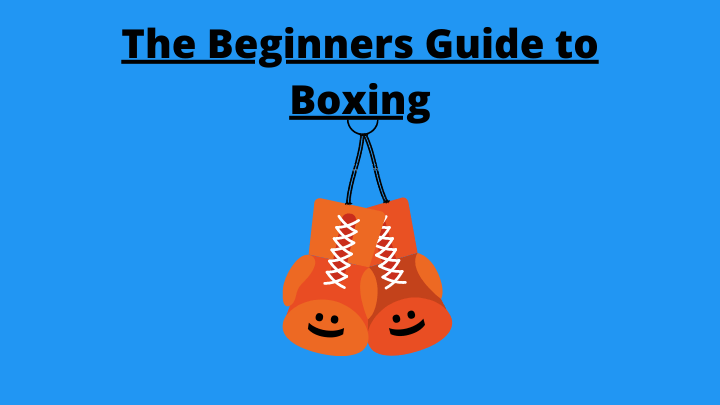 Illustrated hanging boxing gloves with smiley faces and an overlay saying: